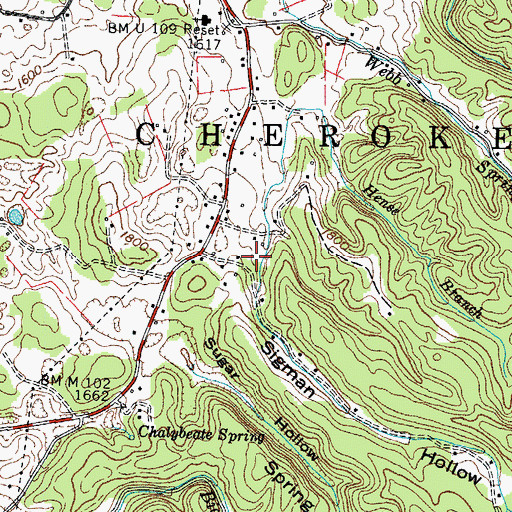 Topographic Map of Sigman Hollow, TN