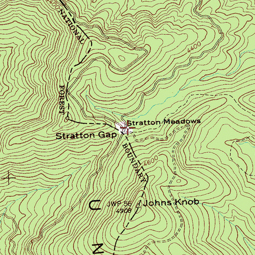 Topographic Map of Stratton Meadows, TN