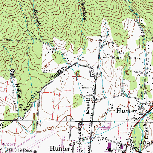 Topographic Map of Minton Branch, TN