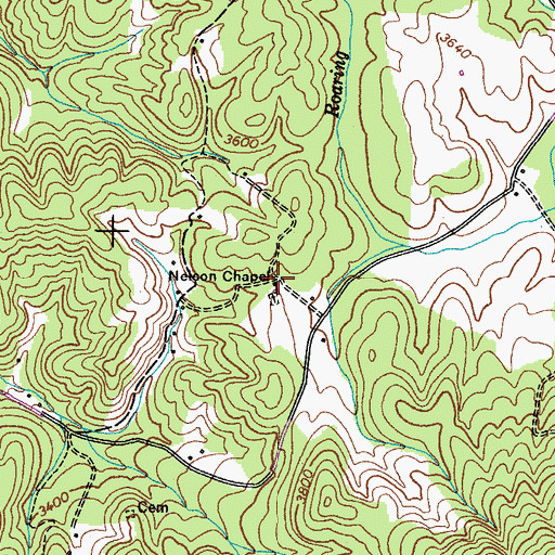 Topographic Map of Nelson Chapel, TN