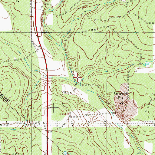 Topographic Map of Caracol Creek, TX