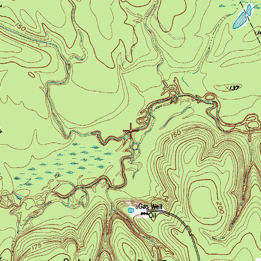 Topographic Map of Fish Creek, TX