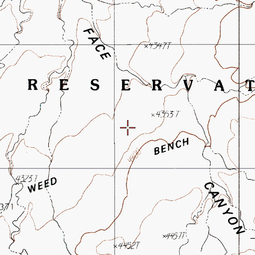 Topographic Map of Weed Bench, AZ