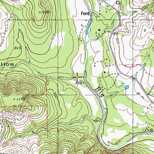 Topographic Map of Hawks Nest Hollow, TX