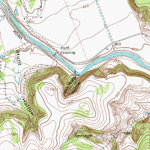 Topographic Map of Jim Hogg Hollow, TX