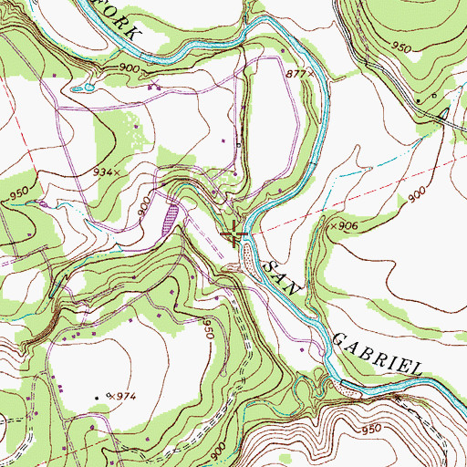 Topographic Map of Lackey Creek, TX