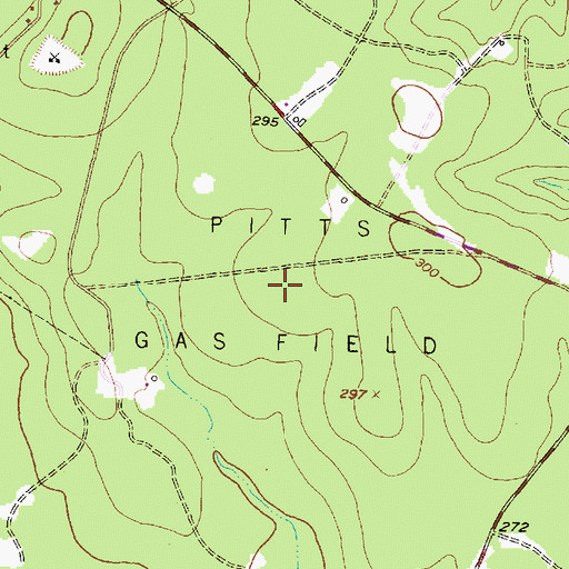Topographic Map of Pitts Gas Field, TX