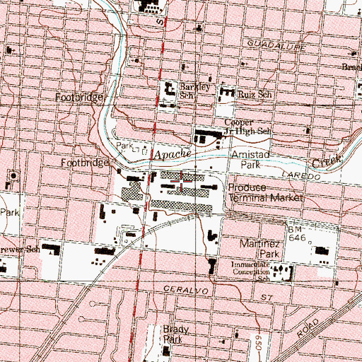 Topographic Map of Produce Terminal Market, TX