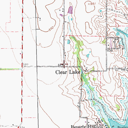 Topographic Map of Clear Lake, TX