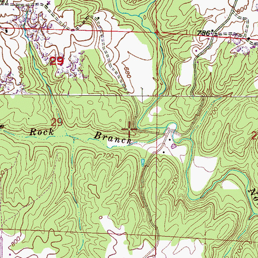 Topographic Map of State Rock, AL