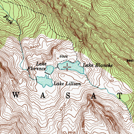 Topographic Map of Lake Blanche, UT
