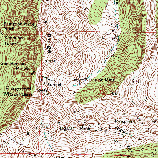Topographic Map of Eclipse Mine, UT