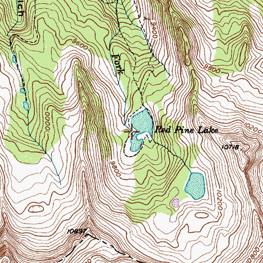 Topographic Map of Red Pine Lake, UT