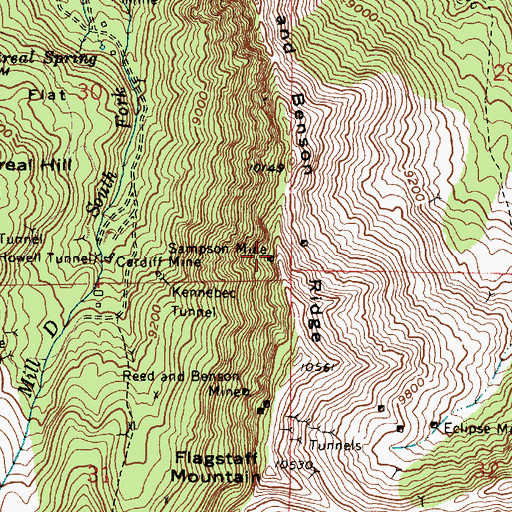 Topographic Map of Sampson Mine, UT