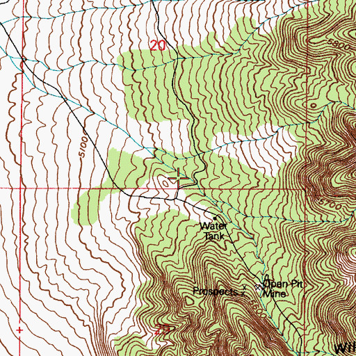 Topographic Map of Wiley Canyon, UT