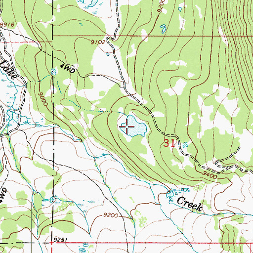 Topographic Map of Dee Mills Reservoir, UT