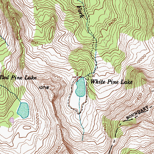 Topographic Map of White Pine Dam, UT