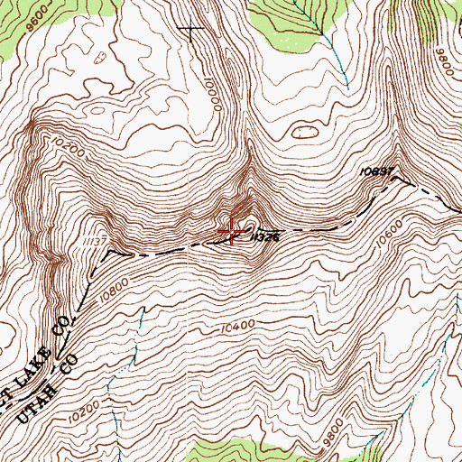 Topographic Map of The Pfeifferhorn, UT
