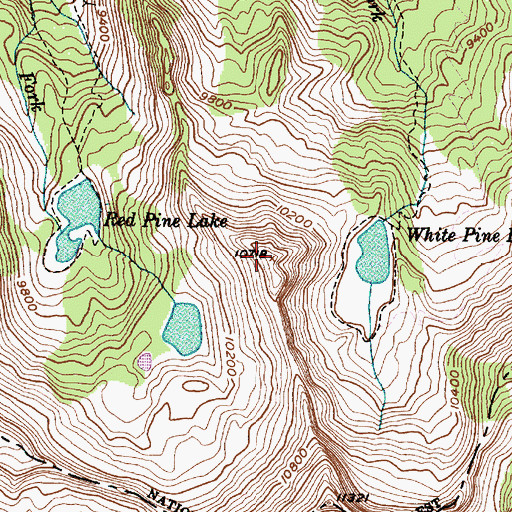 Topographic Map of Thunder Mountain, UT
