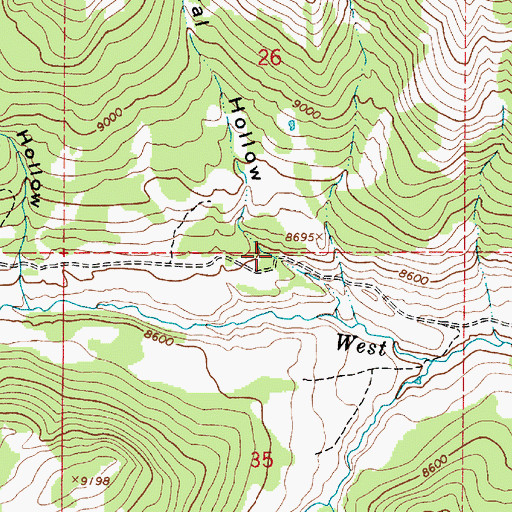 Topographic Map of Corral Hollow, UT