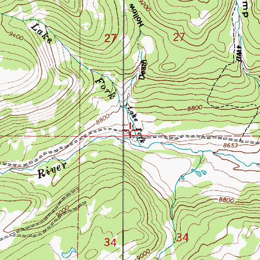 Topographic Map of Death Hollow, UT
