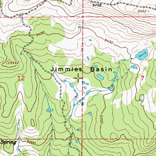 Topographic Map of Jimmies Basin, UT