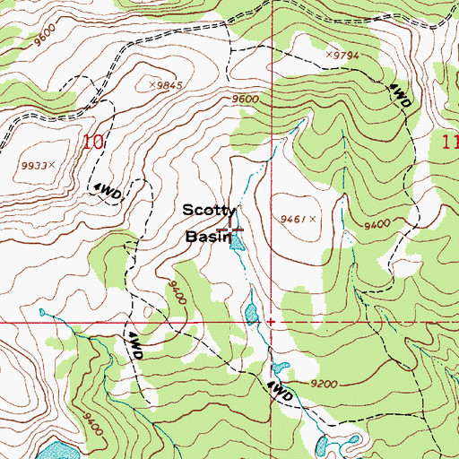 Topographic Map of Scotty Basin, UT