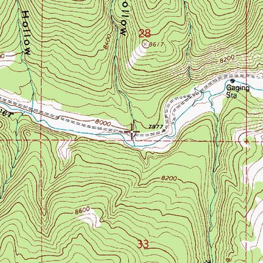 Topographic Map of Trail Hollow, UT