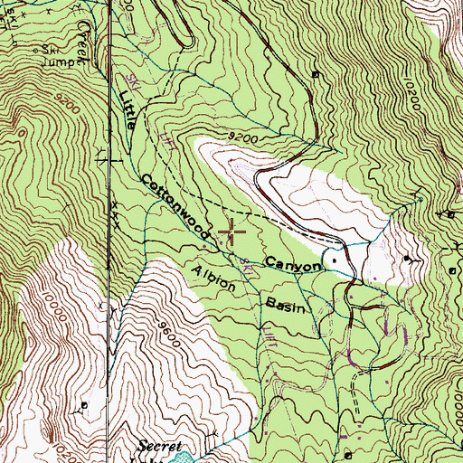 Topographic Map of Albion Alps, UT