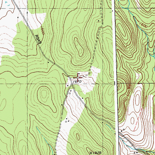 Topographic Map of Edwards School, VT