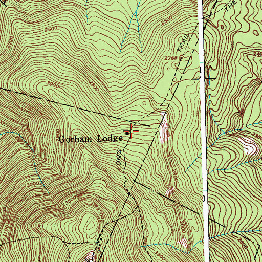 Topographic Map of Gorham Lodge, VT