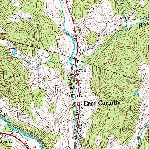 Topographic Map of Hedgehog Brook, VT