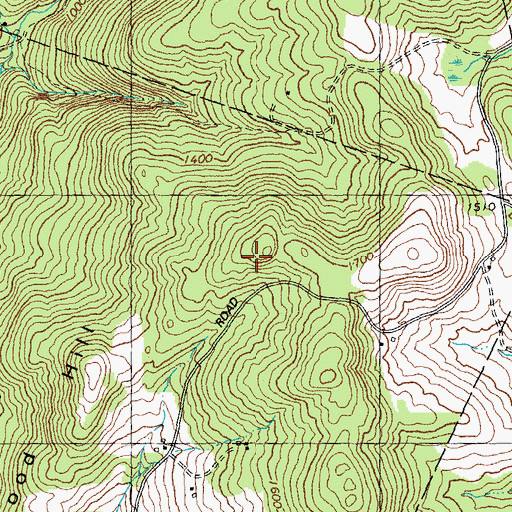 Topographic Map of Osgood Hill, VT