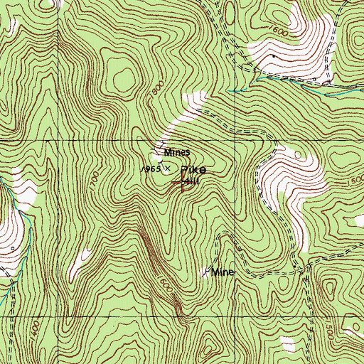 Topographic Map of Pike Hill, VT