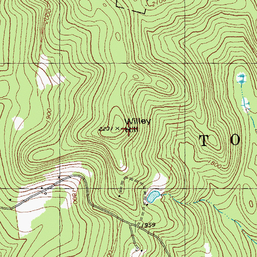 Topographic Map of Willey Hill, VT