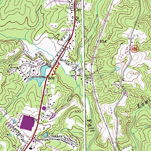 Topographic Map of Edwards Branch, VA