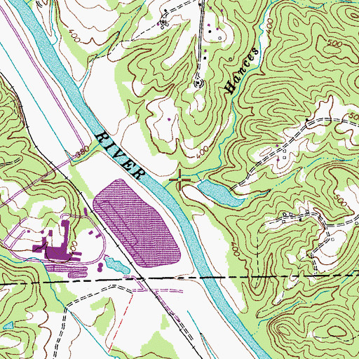 Topographic Map of Hances Branch, VA