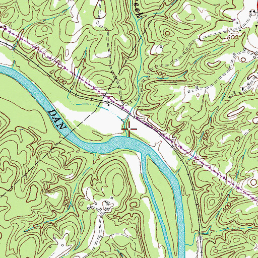 Topographic Map of Childress Creek, VA