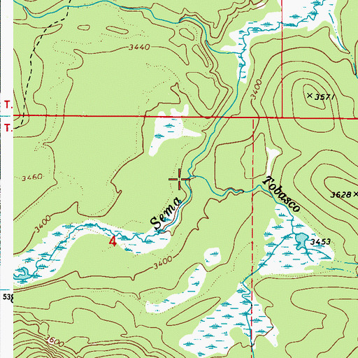 Topographic Map of Tobasco Creek, WA