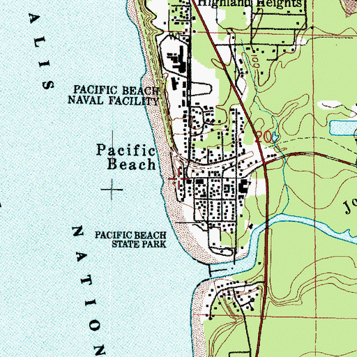 Topographic Map Of Pacific Beach Wa