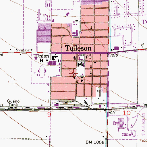 Topographic Map of Tolleson Town Park Number One, AZ