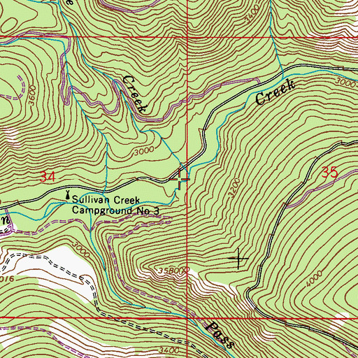 Topographic Map of Cascade Creek, WA