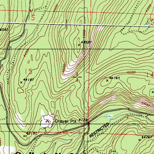 Topographic Map of Cobey Trail (historical), WA