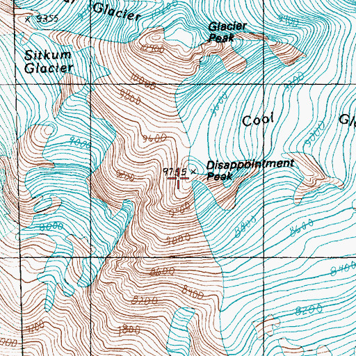 Topographic Map of Disappointment Peak, WA