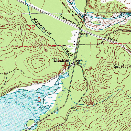 Topographic Map of Electron, WA