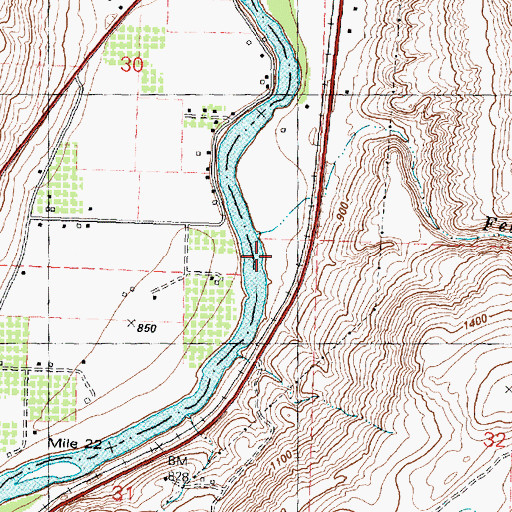 Topographic Map of Felix Creek, WA