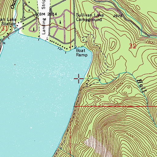 Topographic Map of Hall Creek, WA