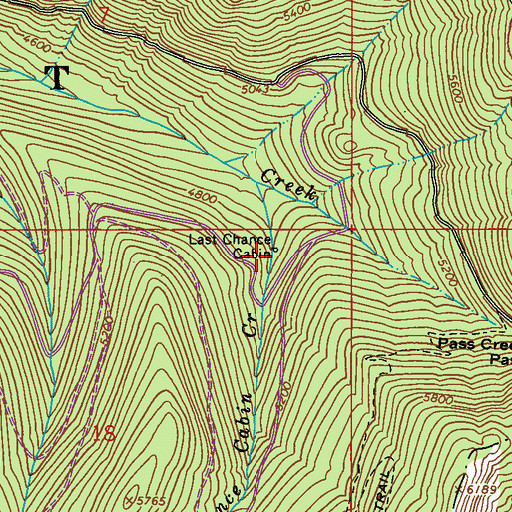 Topographic Map of Last Chance Cabin, WA