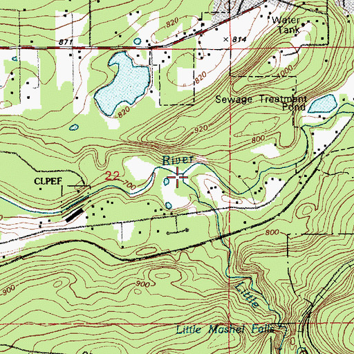 Topographic Map of Little Mashel River, WA