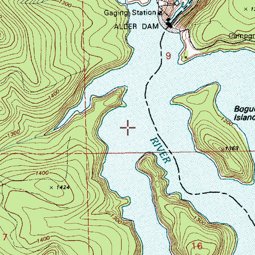 Topographic Map of Little Nisqually River, WA